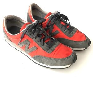 New Balance Orange Gray Running Sneakers